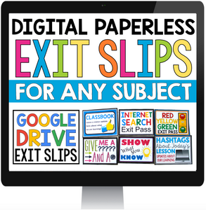 DIGITAL PAPERLESS EXIT PASSES FOR GOOGLE DRIVE / GOOGLE CLASSROOM