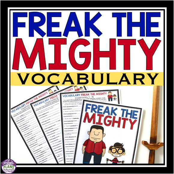 FREAK THE MIGHTY VOCABULARY PRESENTATION & BOOKLET