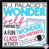 WONDER BY R. J PALACIO SELF PORTRAIT ASSIGNMENT