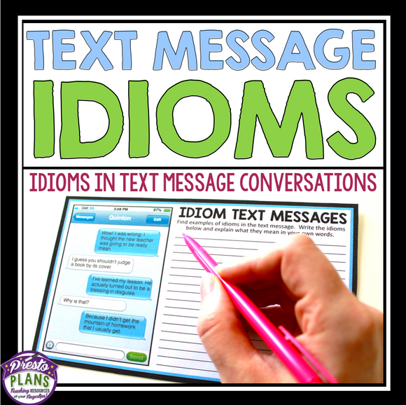 IDIOM ACTIVITY: IDIOM TEXT MESSAGES