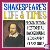 SHAKESPEARE INTRODUCTION PRESENTATION