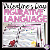 VALENTINE'S DAY READING FIGURATIVE LANGUAGE - 5 STORIES