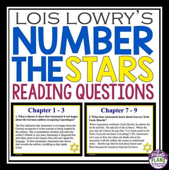 NUMBER THE STARS READING CHAPTER QUESTIONS