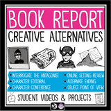 CREATIVE BOOK REPORT PROJECTS FOR ANY NOVEL OR SHORT STORY: VIDEO INTRODUCTIONS