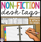 NON FICTION DESK TAGS