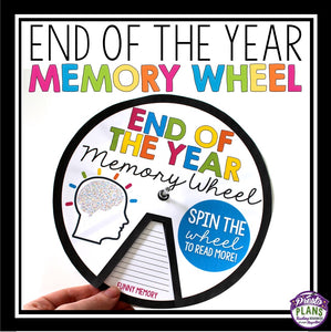 END OF THE YEAR ACTIVITY MEMORY WHEEL