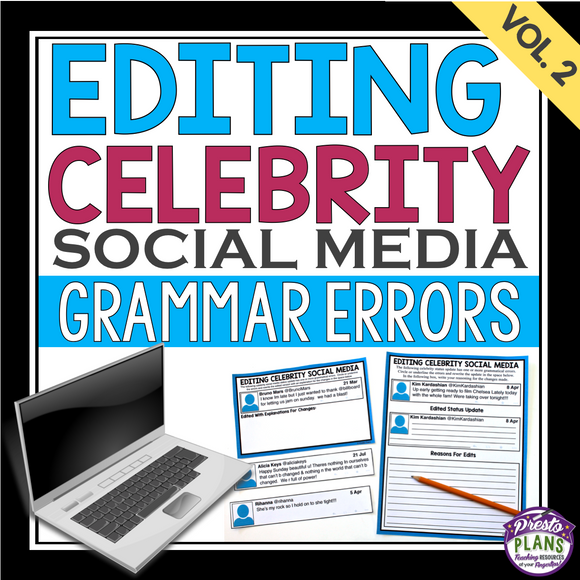 GRAMMAR: EDITING CELEBRITY SOCIAL MEDIA (VOL 2)