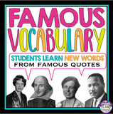 VOCABULARY ACTIVITY: QUOTES TASK CARDS