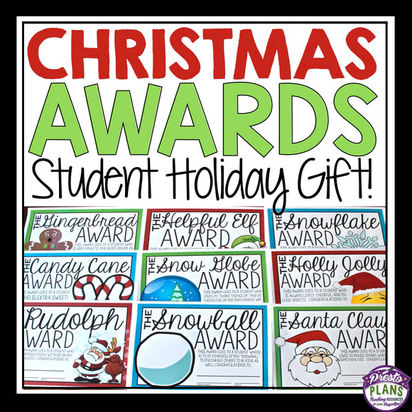 CHRISTMAS STUDENT AWARDS: HOLIDAY GIFT