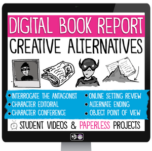 DIGITAL BOOK REPORT PROJECTS FOR ANY NOVEL | GOOGLE | DISTANCE LEARNING