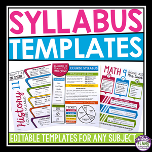SYLLABUS EDITABLE TEMPLATES