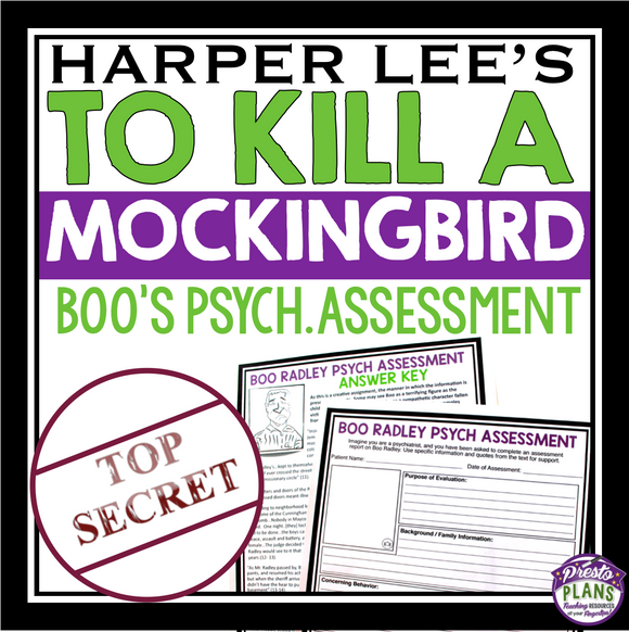 TO KILL A MOCKINGBIRD ASSIGNMENT - BOO RADLEY PSYCHIATRIC ASSESSMENT