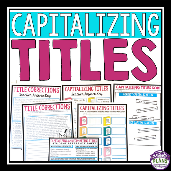CAPITALIZING TITLES PRESENTATION & ASSIGNMENTS
