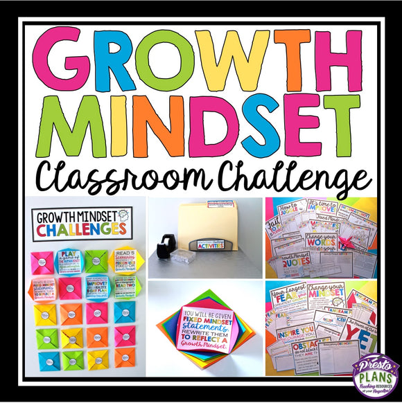 GROWTH MINDSET ACTIVITIES & BULLETIN BOARD DISPLAY