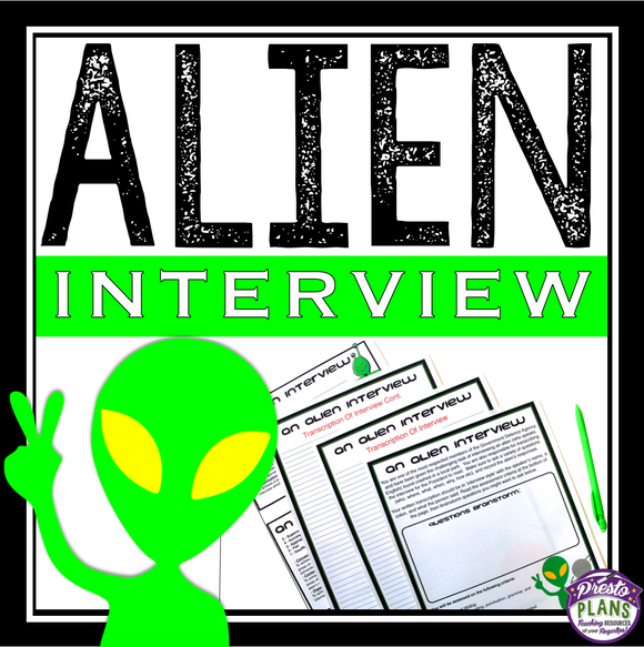 HALLOWEEN WRITING ACTIVITY: ALIEN INTERVIEW