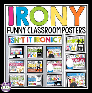 IRONY POSTERS - BULLETIN BOARD