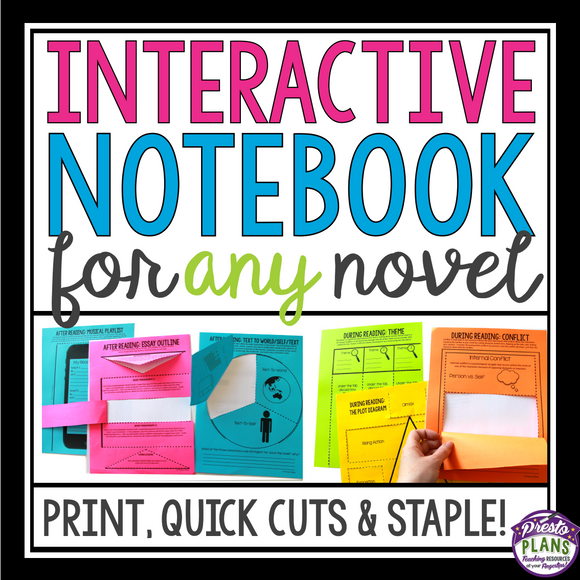 INTERACTIVE NOTEBOOK NOVEL ASSIGNMENTS