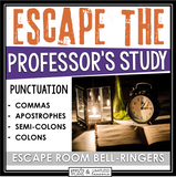 PUNCTUATION ESCAPE ROOM BELL RINGERS (COMMA, SEMI-COLON, APOSTROPHE, COLON)