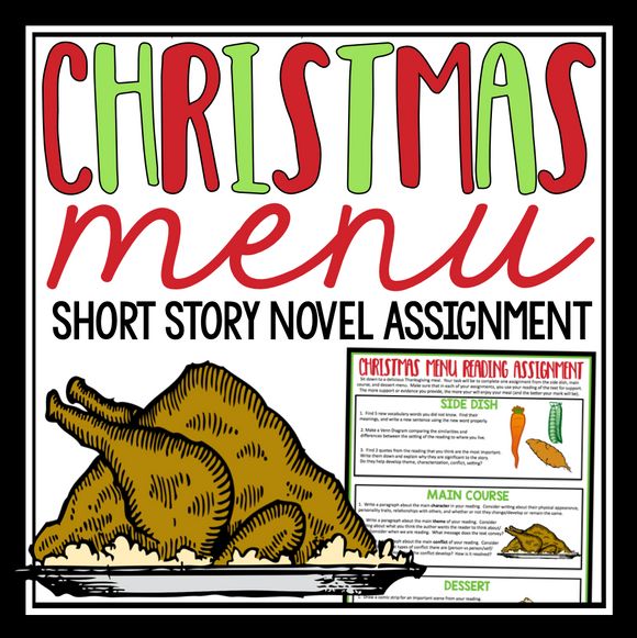 CHRISTMAS READING ASSIGNMENT: NOVEL SHORT STORY MENU
