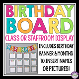 BIRTHDAY BOARD BULLETIN DISPLAY