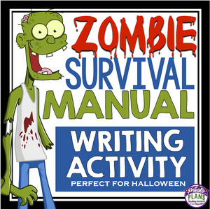 ZOMBIE HALLOWEEN WRITING ASSIGNMENT