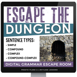 DIGITAL SENTENCE TYPES ESCAPE ROOM GOOGLE | DISTANCE LEARNING