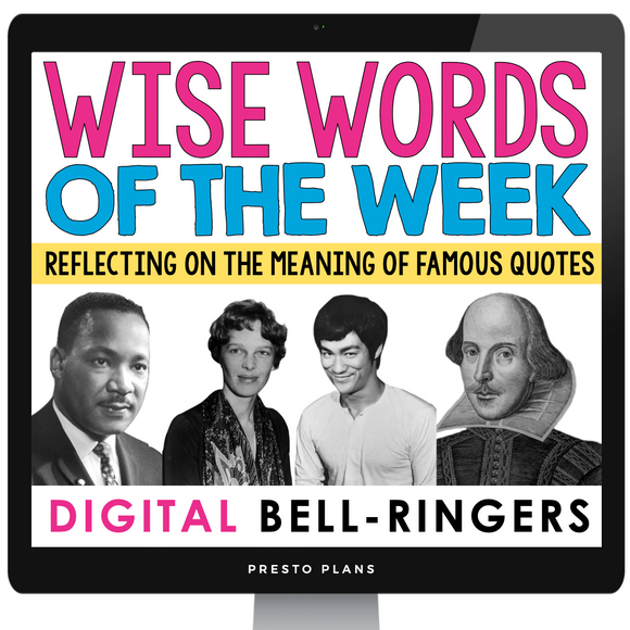 DIGITAL QUOTE JOURNAL RESPONSE: WISE WORDS GOOGLE | DISTANCE LEARNING