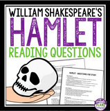 HAMLET READING QUESTIONS AND ANSWERS ( WILLIAM SHAKESPEARE )