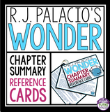 WONDER BY R.J. PALACIO CHAPTER SUMMARY CARDS