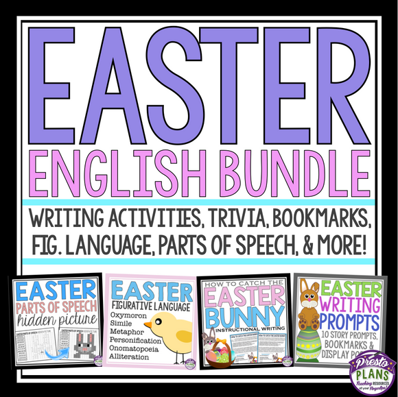 EASTER READING & WRITING ACTIVITIES & ASSIGNMENTS BUNDLE