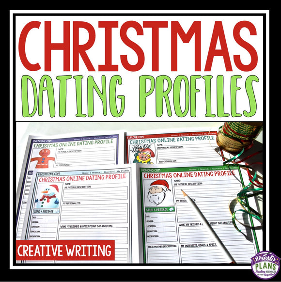 CHRISTMAS WRITING ACTIVITY: DATING PROFILES
