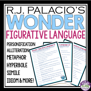 WONDER BY R.J. PALACIO FIGURATIVE LANGUAGE