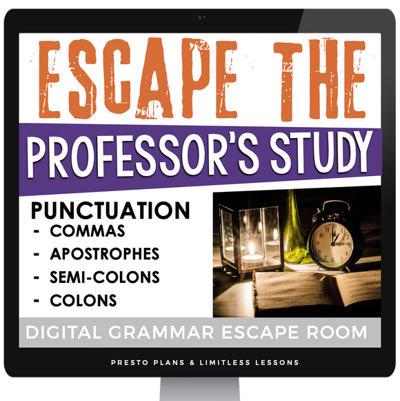 DIGITAL PUNCTUATION ESCAPE ROOM GOOGLE | DISTANCE LEARNING