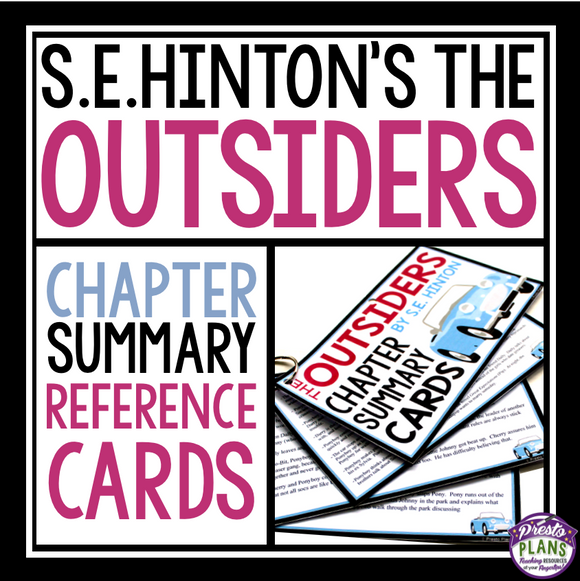 OUTSIDERS CHAPTER SUMMARY CARDS