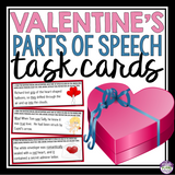 VALENTINE'S DAY GRAMMAR TASK CARDS ACTIVITY