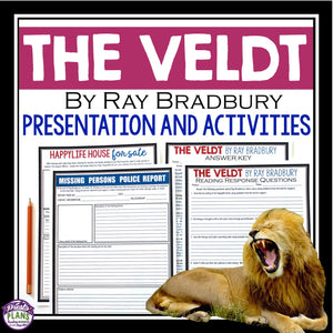 THE VELDT BY RAY BRADBURY (SHORT STORY PRESENTATION & ACTIVITIES)