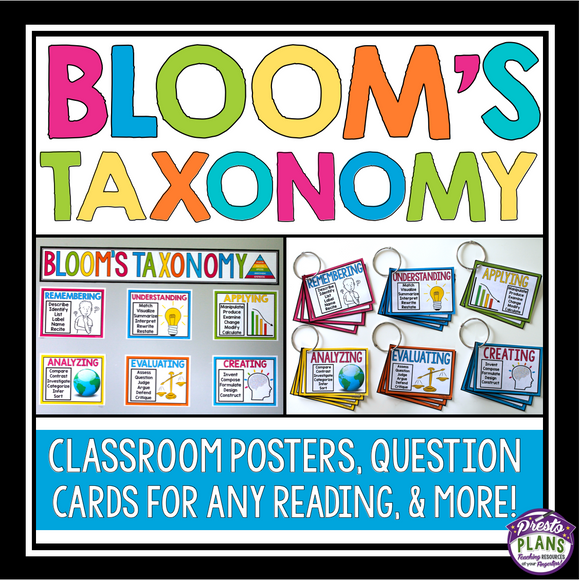 BLOOM'S TAXONOMY POSTERS, QUESTION CARDS, AND ASSIGNMENT