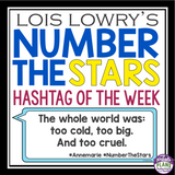 NUMBER THE STARS QUOTE POSTERS: HASHTAGS