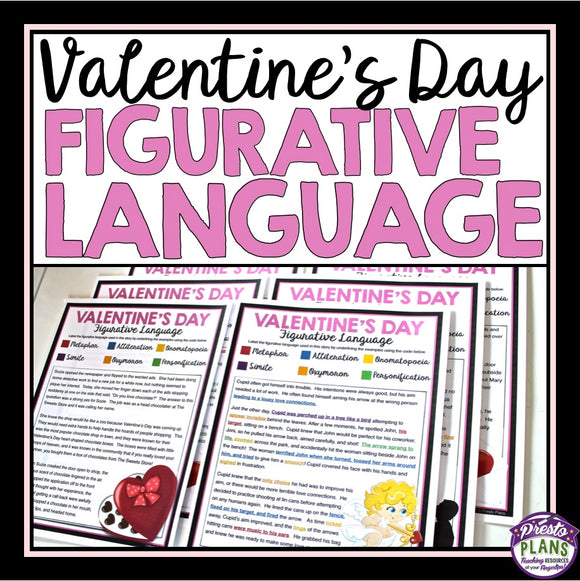VALENTINE'S DAY FIGURATIVE LANGUAGE