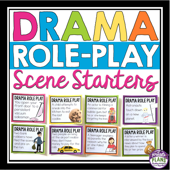 ACTING IMPROVISATION ROLE PLAY DRAMA SCENARIOS / SCENE STARTERS