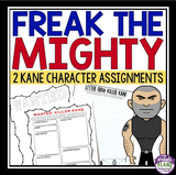 FREAK THE MIGHTY ACTIVITY: CHARACTER ASSIGNMENTS FOR KILLER KANE