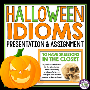 HALLOWEEN IDIOMS PRESENTATION & ACTIVITY