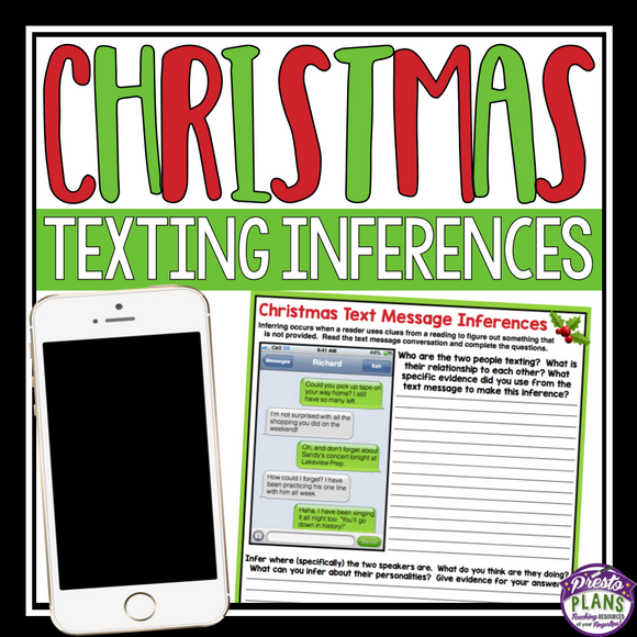 CHRISTMAS INFERENCE: TEXT MESSAGE