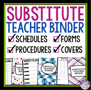 SUBSTITUTE TEACHER / SUPPLY TEACHER BINDER