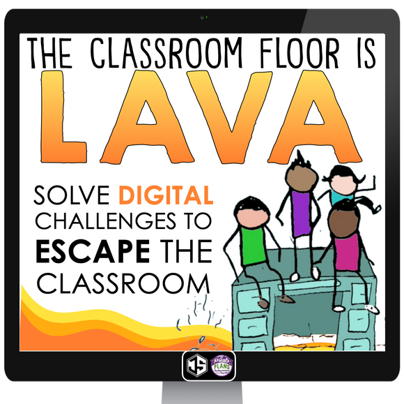 DIGITAL ESCAPE ROOM: CLASSROOM FLOOR IS LAVA | DISTANCE LEARNING