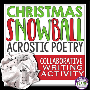 CHRISTMAS POETRY WRITING ACTIVITY: ACROSTIC POETRY