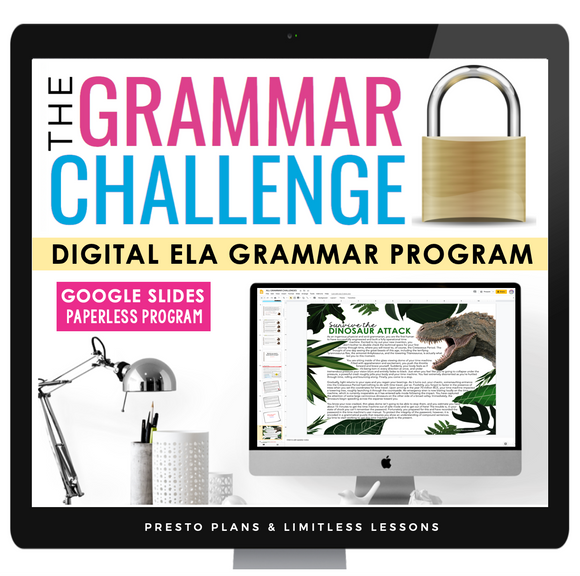 DIGITAL GRAMMAR ESCAPE CHALLENGE FULL YEAR PROGRAM  | DISTANCE LEARNING