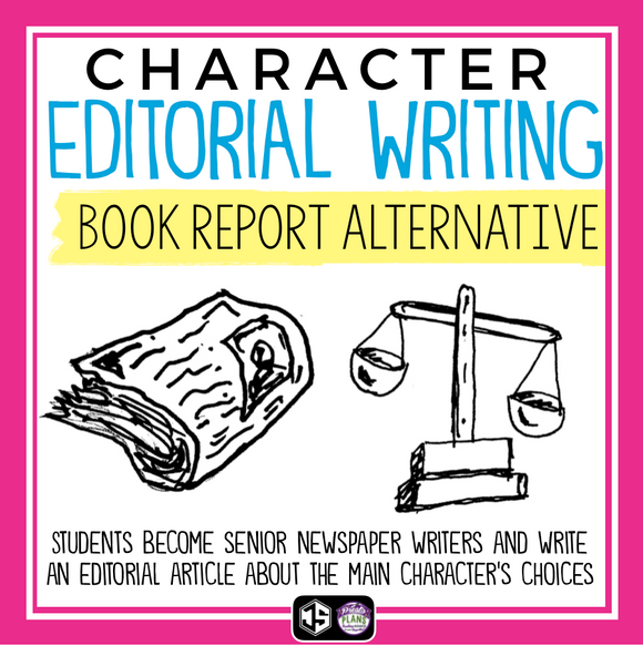 CHARACTER EDITORIAL ARTICLE: BOOK REPORT PROJECT FOR ANY NOVEL OR SHORT STORY