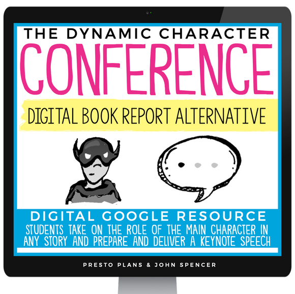 DIGITAL BOOK REPORT FOR ANY STORY - CHARACTER SPEECH | DISTANCE LEARNING