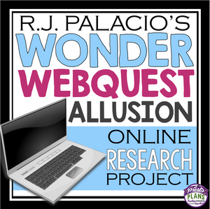 WONDER BY RJ PALACIO ALLUSION WEB QUEST